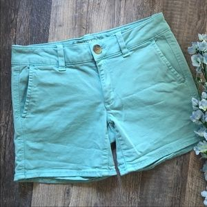American Eagle   Aqua Midi Trouser Shorts